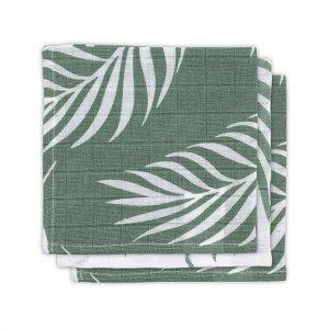 Monddoekje hydrofiel leaves-ash green