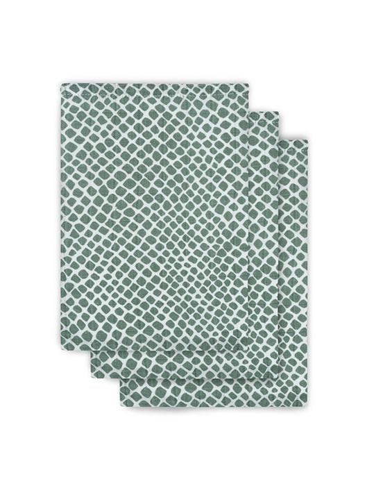 Washandjes Hydrofiel Snake-Ash Green