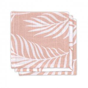 Monddoekje hydrofiel leaves-pale pink