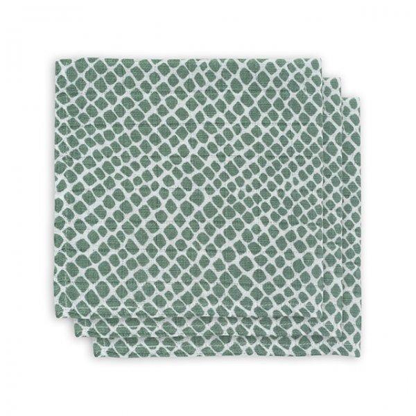 Monddoekjes hydrofiel snake-ash green