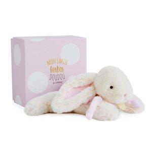Knuffelkonijn wit/roze