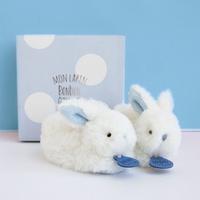 Slofjes konijn blauw