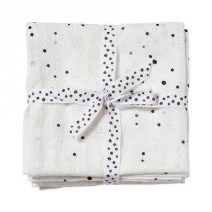 Hydrofiele doeken dreamy dots wit