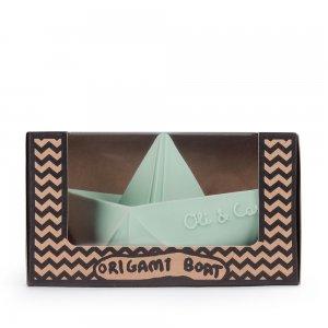 Bijt- en badspeeltje Oli&Carol Boot blauw/mint