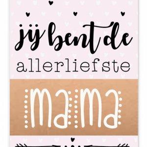 Wenskaart Allerliefste mama