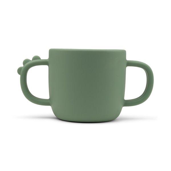 Beker Peekaboo 2-handle cup Croco green