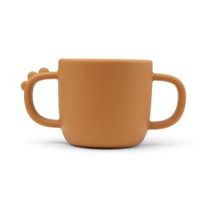 Beker Peekaboo 2-handle cup Croco mustard